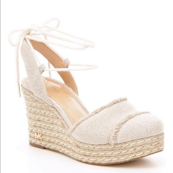 5f374229eb MICHAEL Michael Kors Shoes   Nwt Michael Kors Tibby Closed Toe Wedge ...